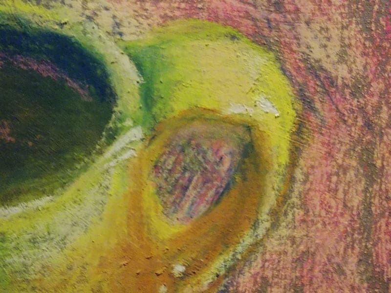 pastel painting of a yellow cup