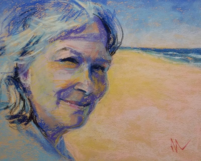 pastel portrait of myself