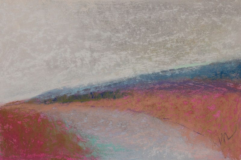 pastel painting of a landscape
