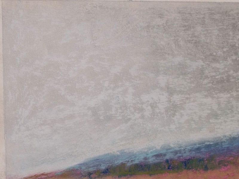 pastel painting detail of a landscape