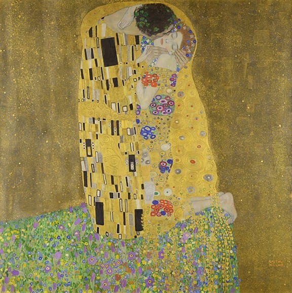 The Kiss by Gustav Klimt, subject of my next Skelly painting!