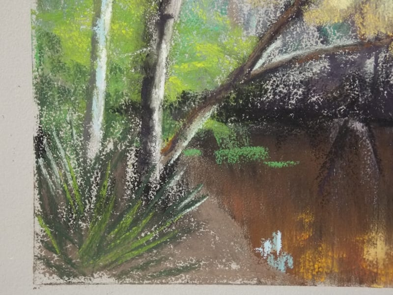 pastel painting of the Durbin Creek