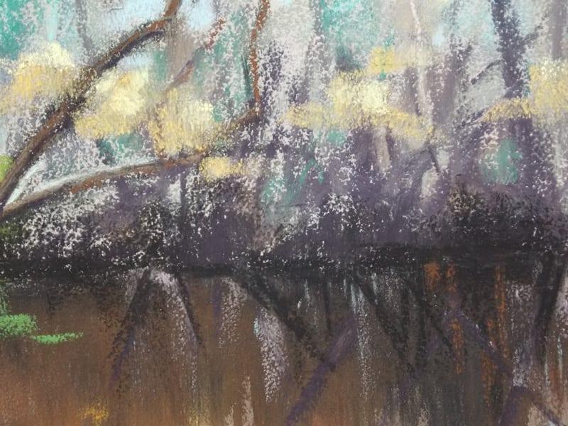 pastel painting of the Durbin Creek