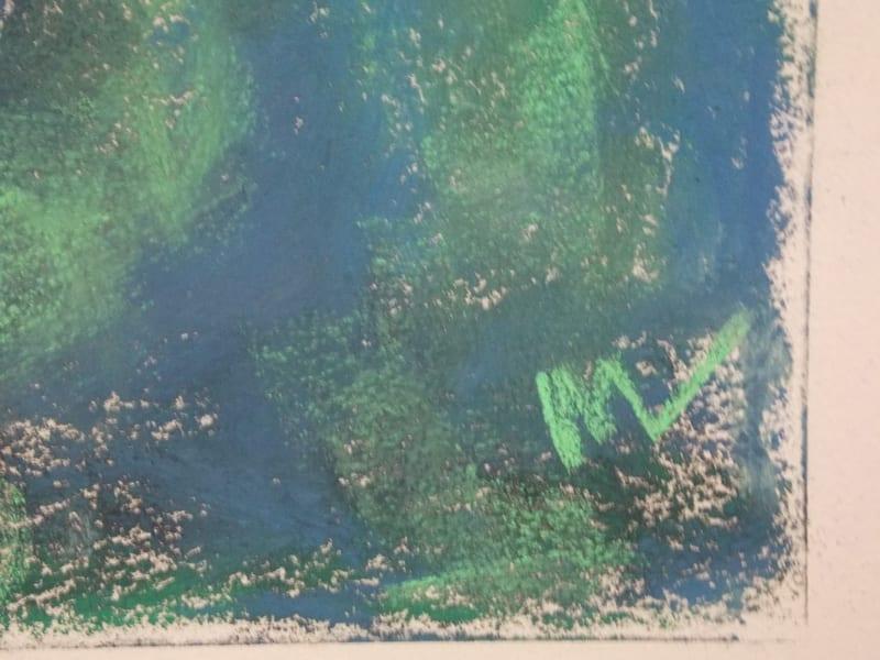 pastel painting of a path through the Julington Durbin Preserve