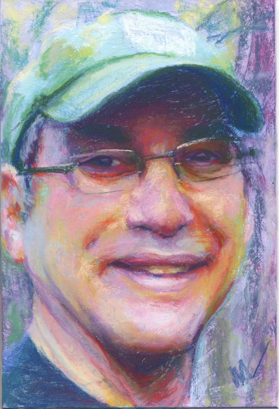 pastel portrait of my husband