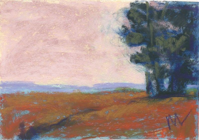 landscape in pastels