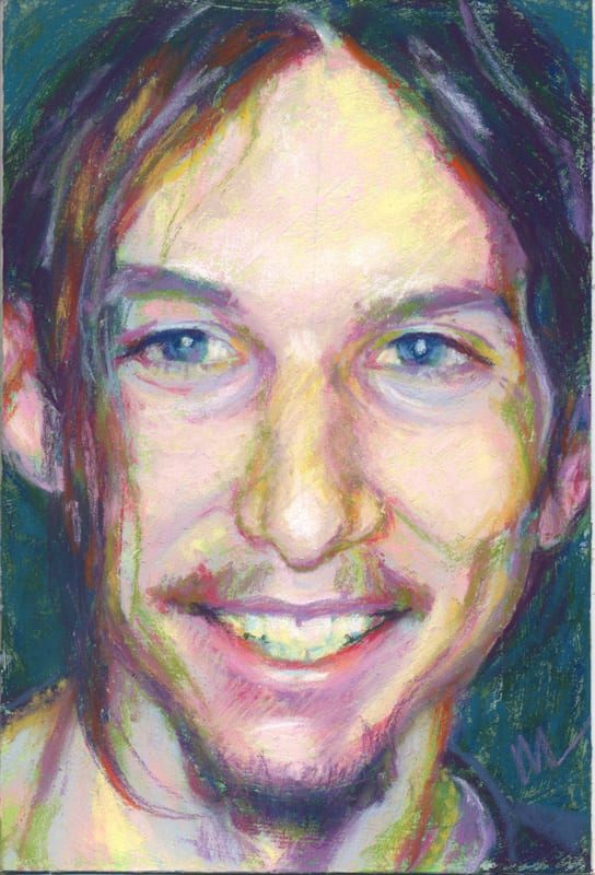 Pastel portrait of a young man.