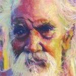 old man portrait in pastels