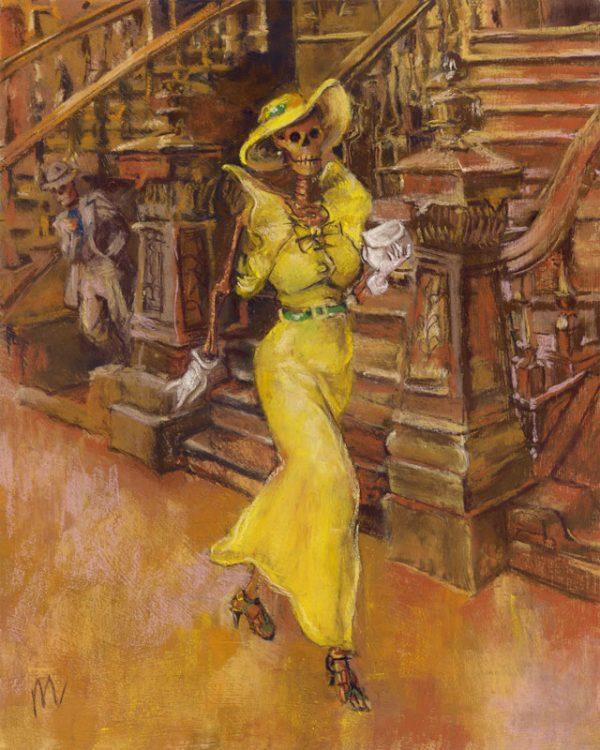 High Skeller is a pastel painting parody of Reginald Marsh's High Yaller