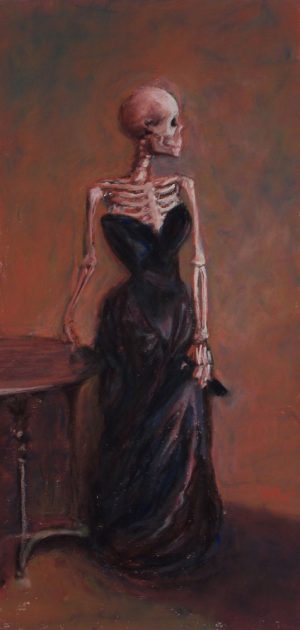 Madame X-Ray is a parody pastel painting of Madame X by John Singer Sargent