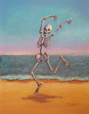 skeleton dancing on the beach skelly dancer no. 8
