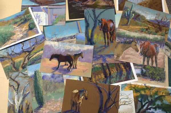 Lots of plein air paintings!