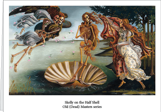 skelly on the half shell greeting card