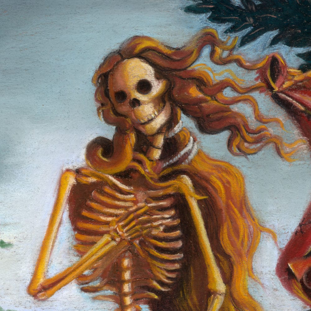 Skelly on the Half Shell, detail 2