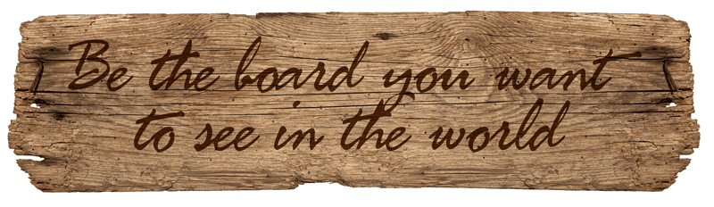 plank with a saying on it