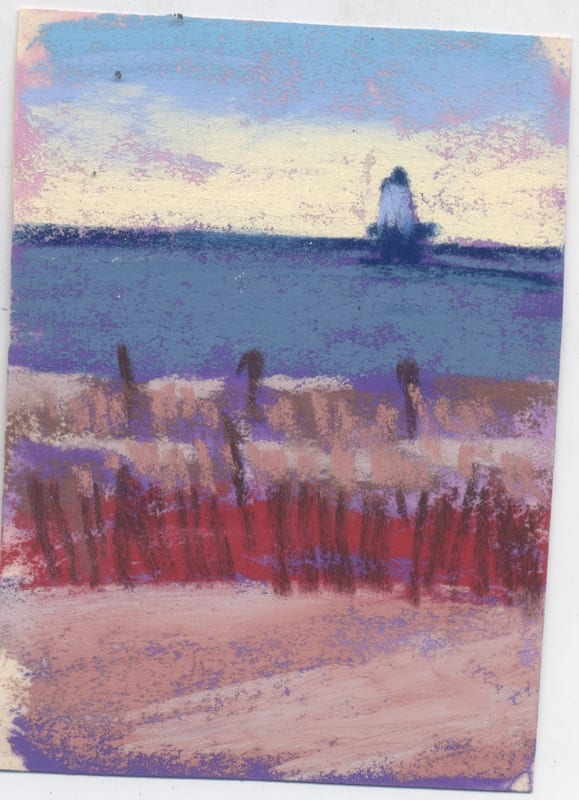 study of the Ludington Lighthouse painting.