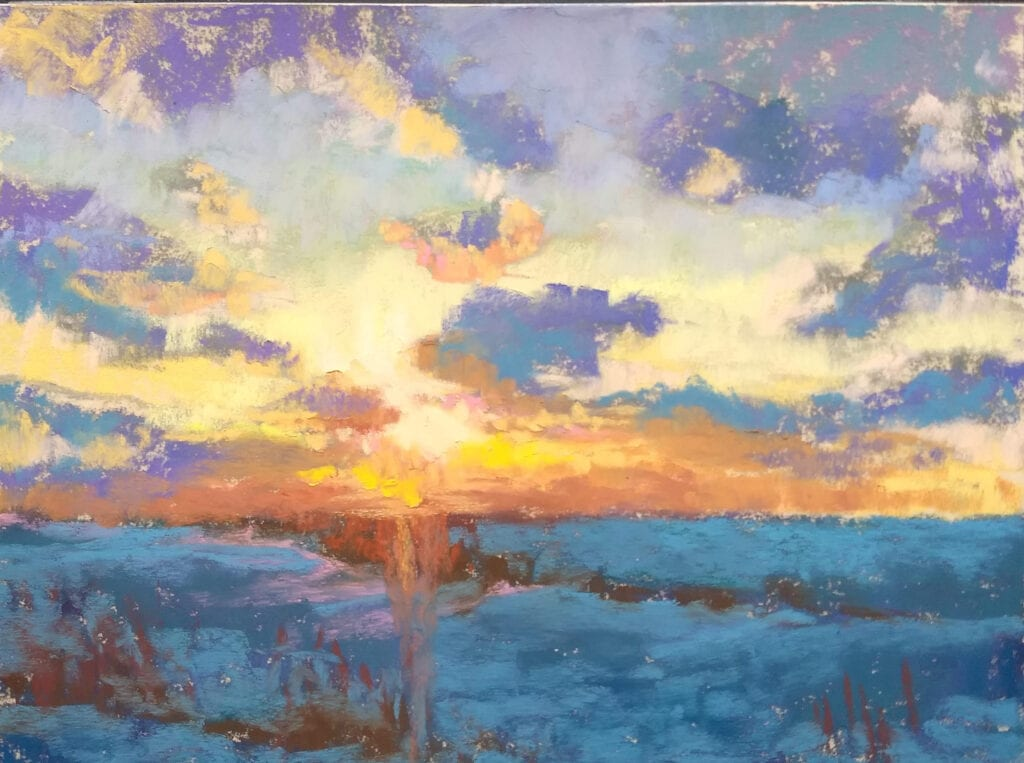 US-10 Sunset pastel by Marie Marfia