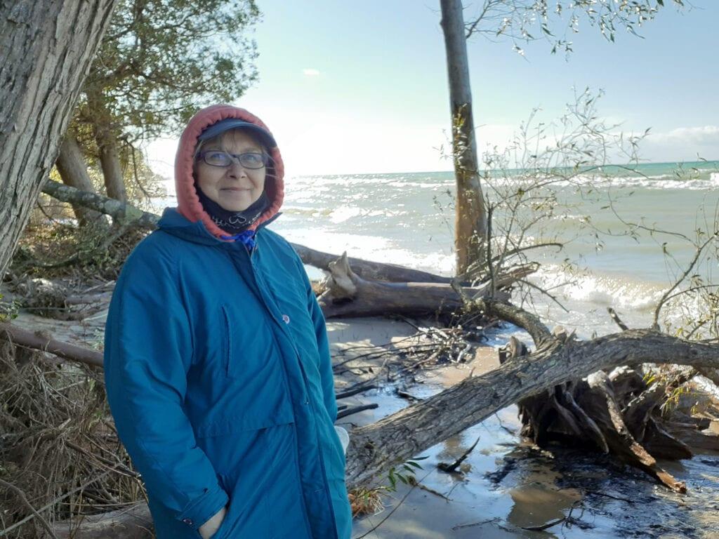 Marie Marfia at Lake Michigan