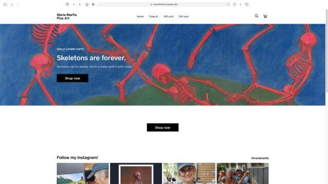 new online store screen shot